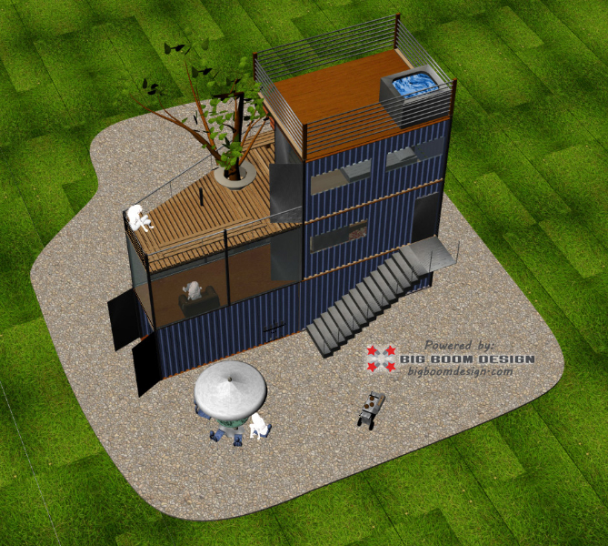 Shipping Container Home Design NC Mountains Big Boom Blog