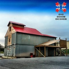 Shipping Container Barn Project in Tennessee