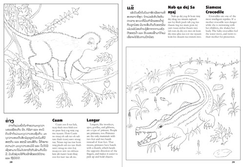 Lao Animals Coloring Book: An introduction to animals of