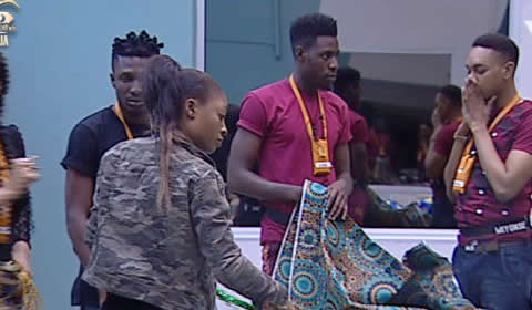 Big Brother Naija 2017 Day 3 Second Task, Housemates To Create a Nigerian Cultural Outfit