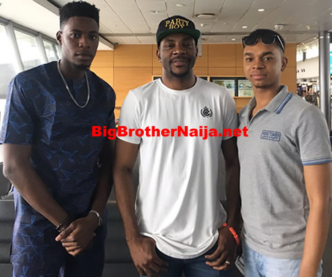 Big Brother Naija Host Ebuka Obi-Uchendu Meets Evicted Housemates Soma And Miyonse Amosu