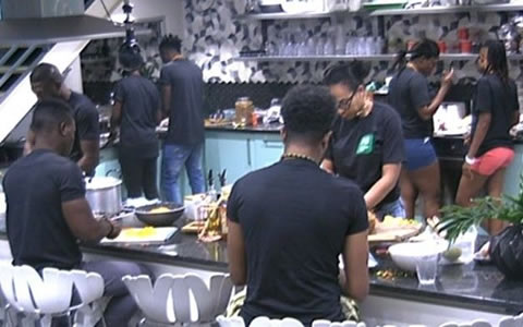 Housemates Prepare A Feast For Efe And Marvis' Big Brother Naija Wedding