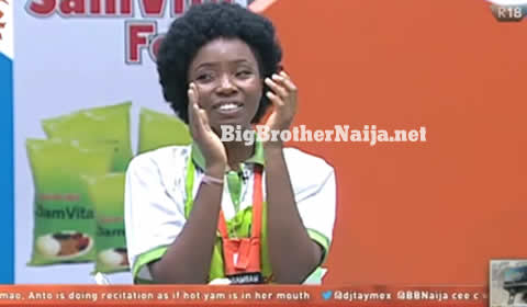 Bambam For Winning The Big Brother Naija 2018 Samvita Cooking Task