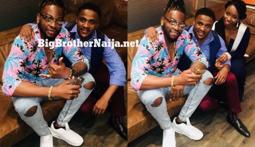 Evicted Housemates Teddy A and Bambam Outside The Big Brother Naija House