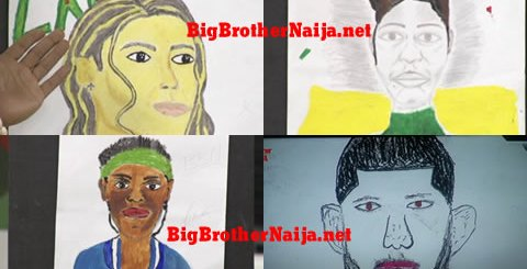 Big Brother Naija 2019 Portrait Paintings