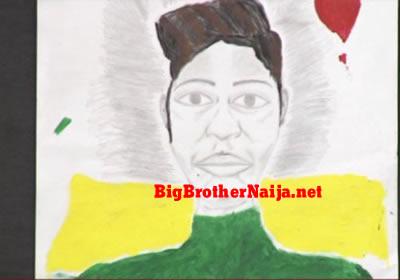 Khafi Portrait Painting Big Brother Naija 2019