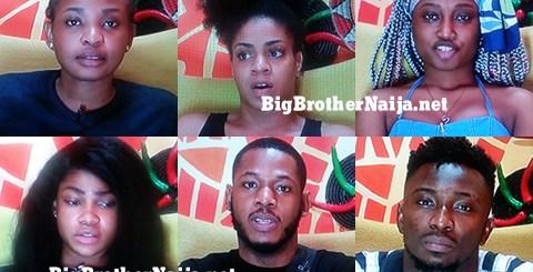 Big Brother Naija 2019 Week 9 Nominated Housemates, Frodd, Esther, Venita, Sir Dee, Tacha and Cindy