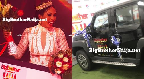 Mercy Eke Receives Big Brother Naija 2019 SUV Car Prize From Innoson Motors