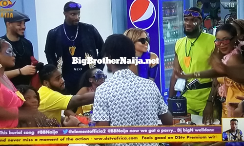 Prince Nelson Enwerem birthday celebrations on Big Brother Naija 2020 day 14