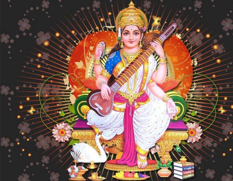 9 days of Navratri - Goddess Saraswathi