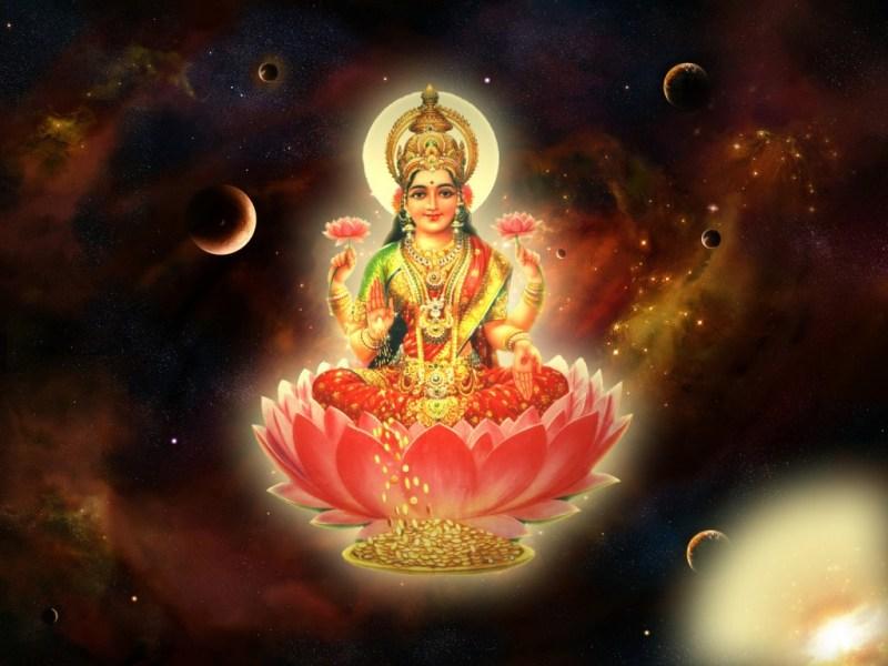 Goddess Lakshmi - in 9 days of navrtri