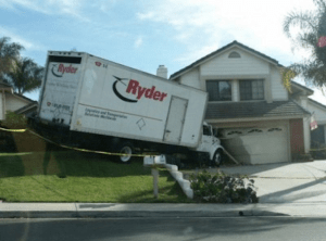 not the best place to park your moving truck