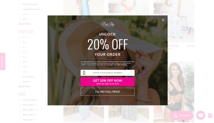 jewelry online pink lily promo
