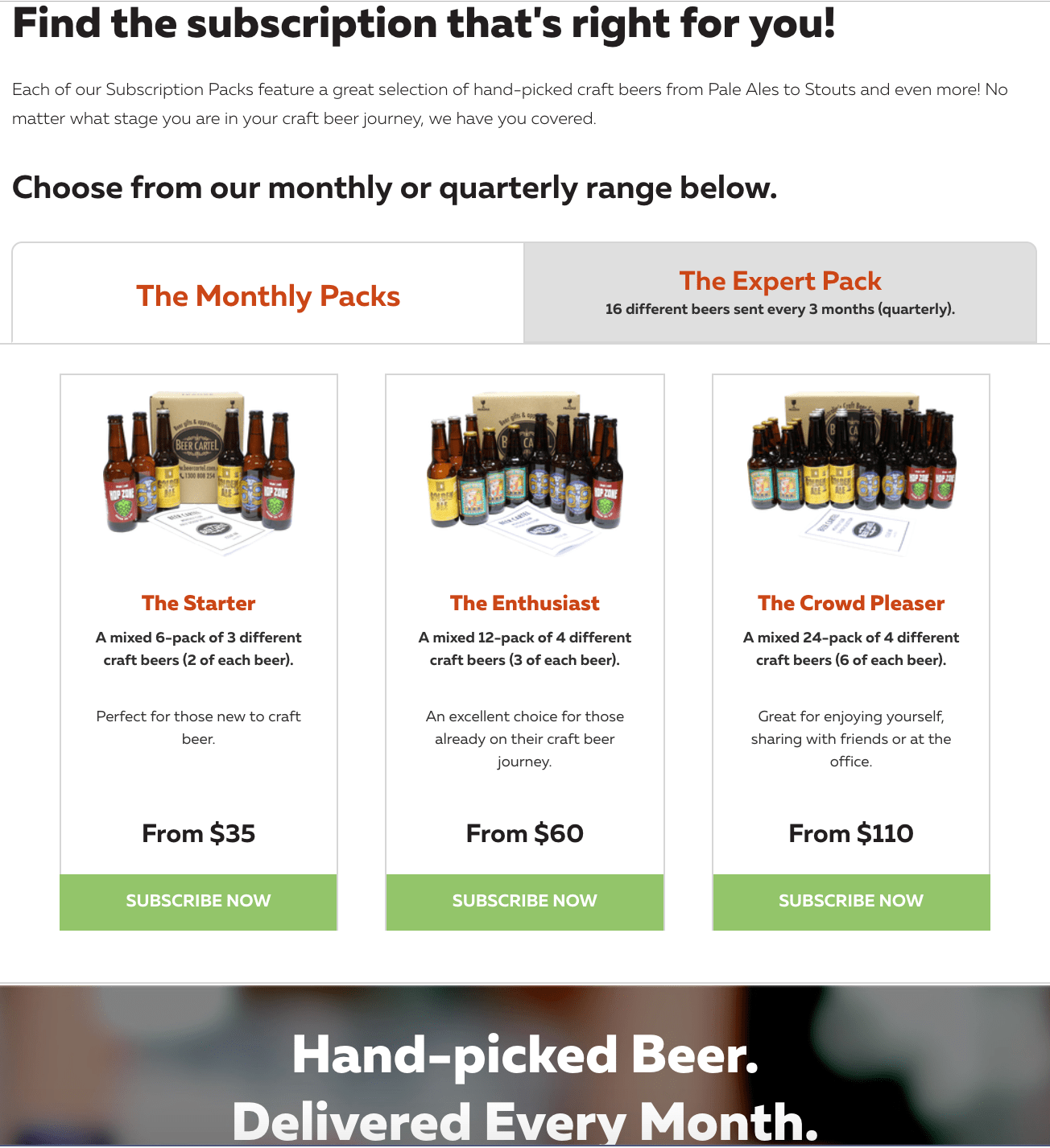 beer cartel subscription box store example
