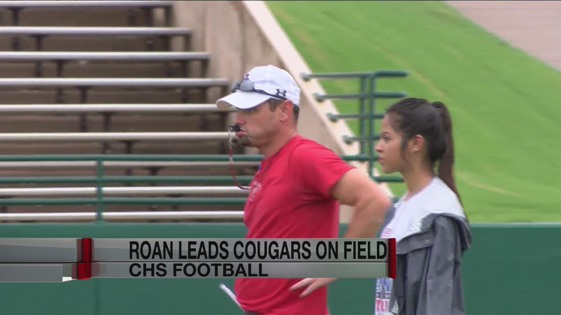 Aaron Roan leads Cooper on field