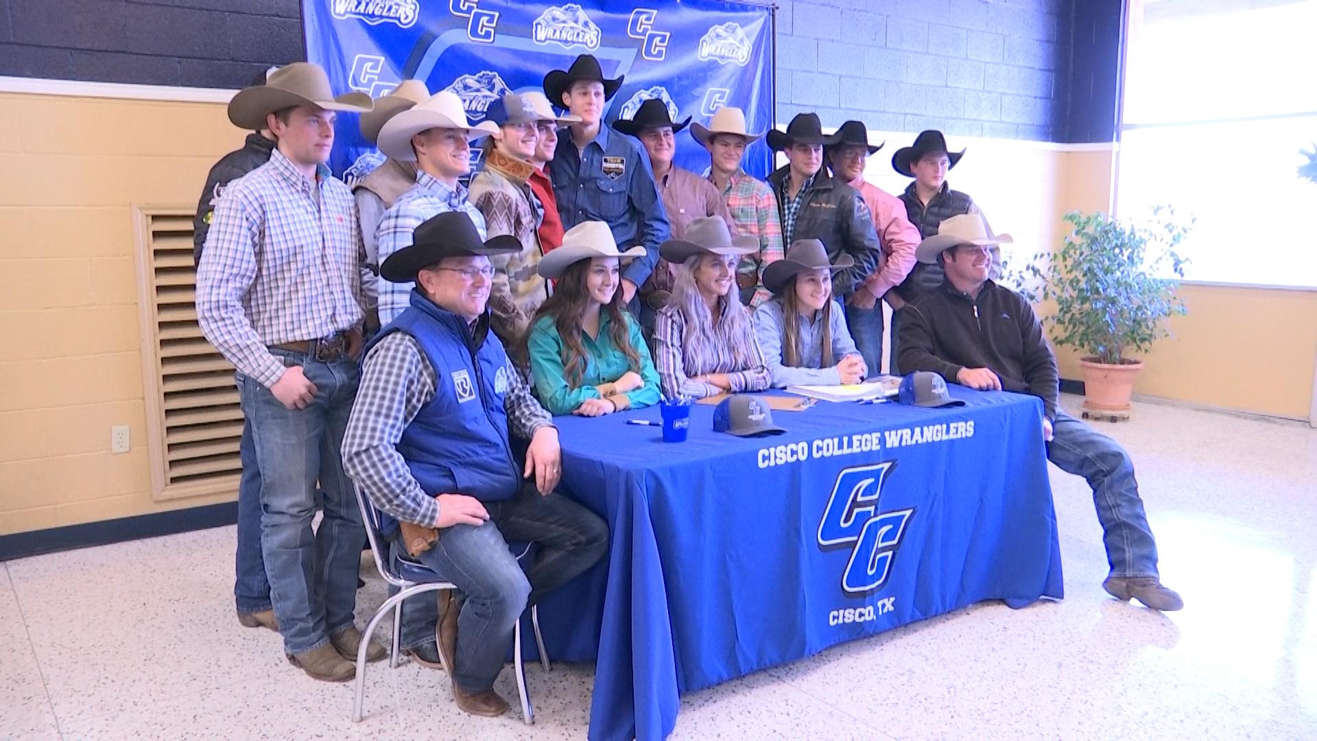 Cisco Community College welcomes half of freshmen rodeo class.