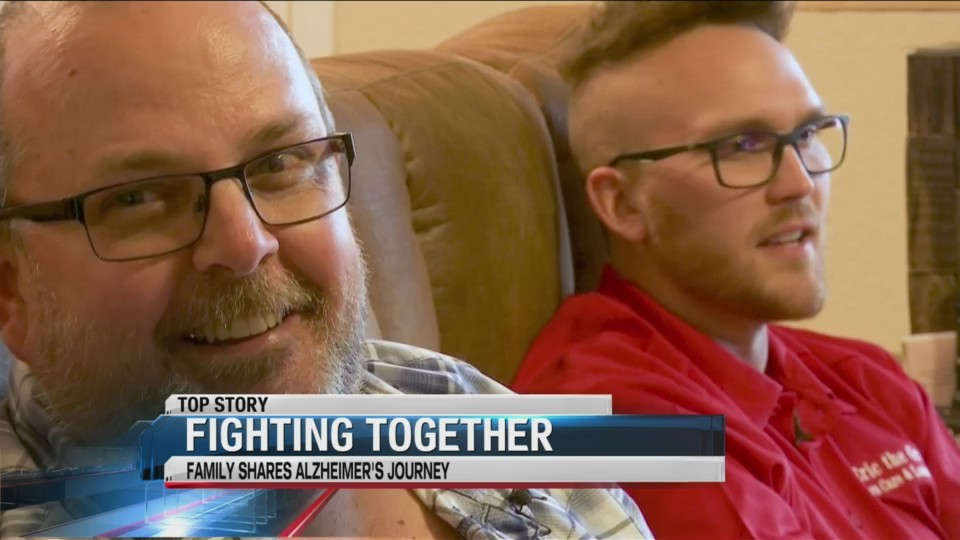 Walking together: father and son share Alzheimer's journey