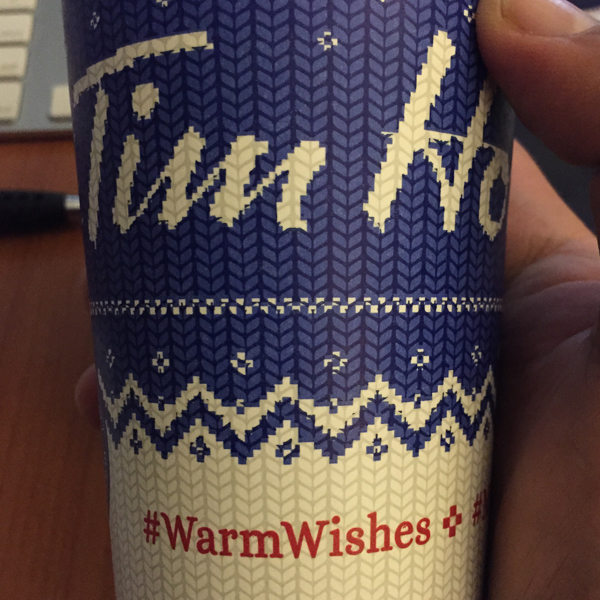 warm wishes blue cup
