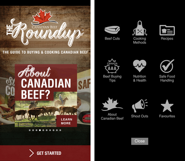 Canadian Beef opening screens