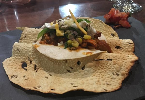 daal roti chicken khurchan taco