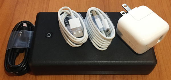 cables and chargers vacation