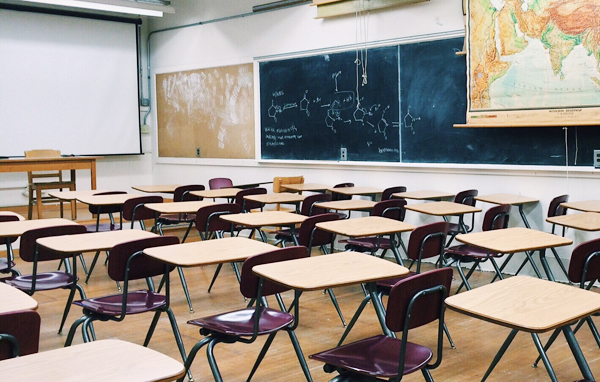 classroom from back corner