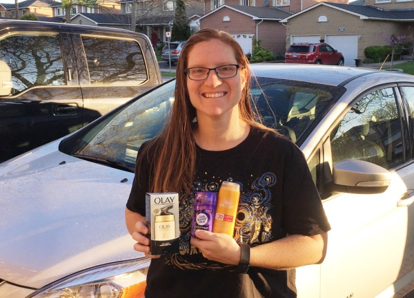 SHOPPERS WENDY WITH OLAY SPEED STICK SUNTHERA