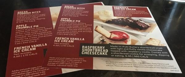 fionn dessert menu