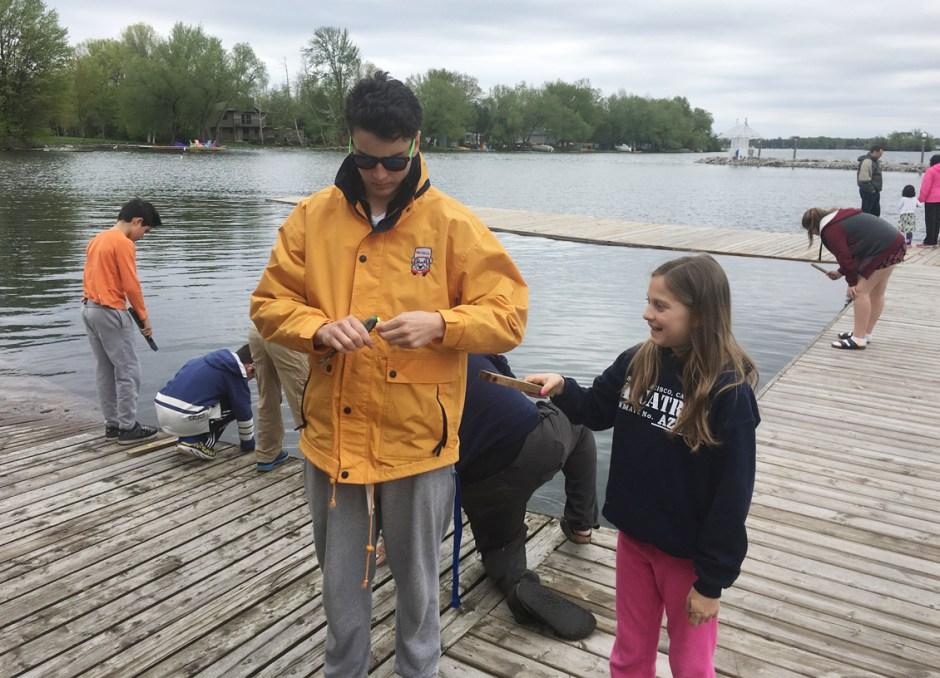 fern resort staff at fishing dock