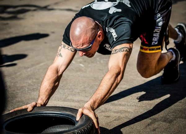 crossfit tire push