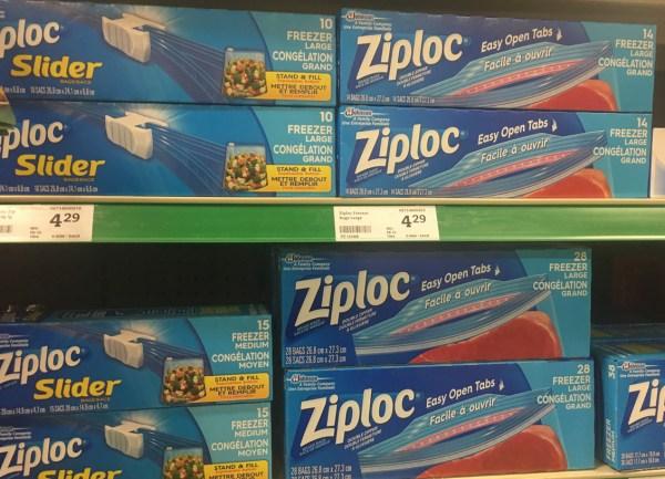 Packaging Design Ziploc bags