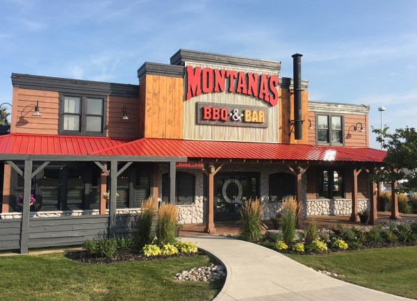 montanas front of building