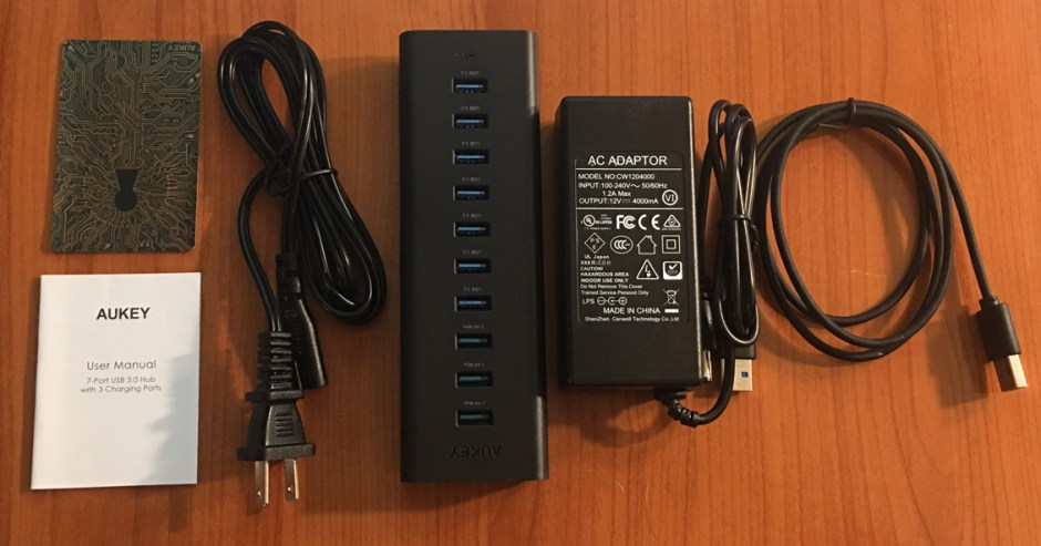 USB Hub whats in the box