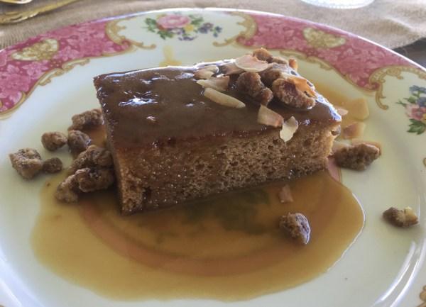 farm warm butterscotch pudding cake