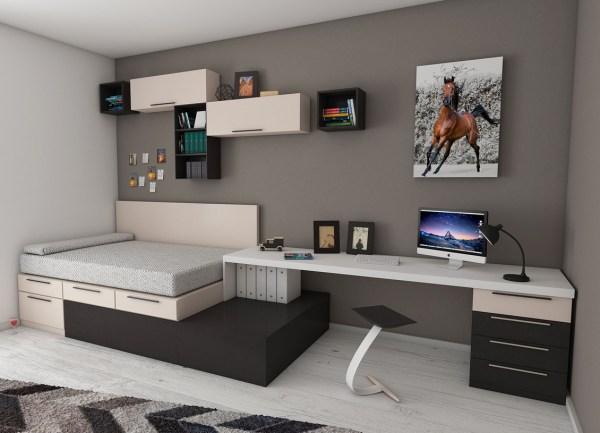 storage organized bedroom