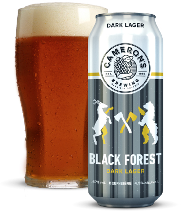 cameron's black forest dark lager