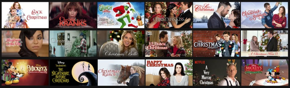 christmas movies collage