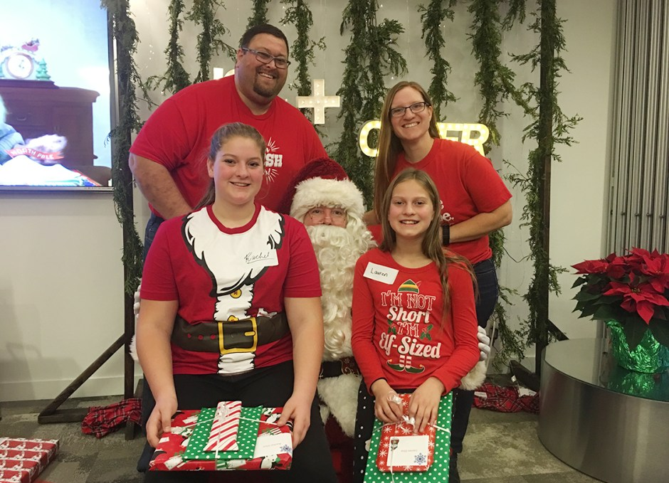 silva bells family with santa