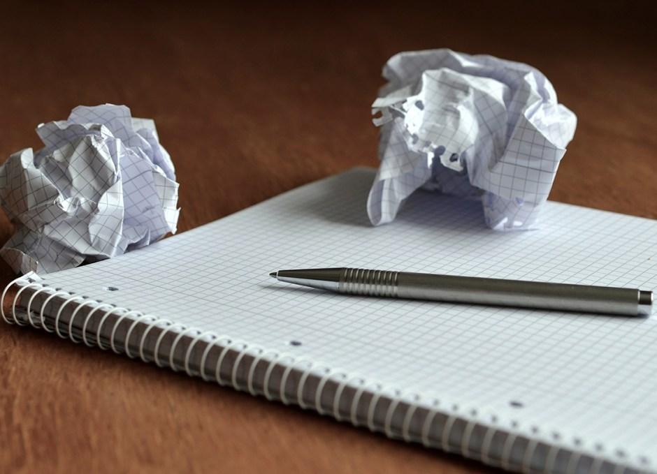 essay crumpled paper