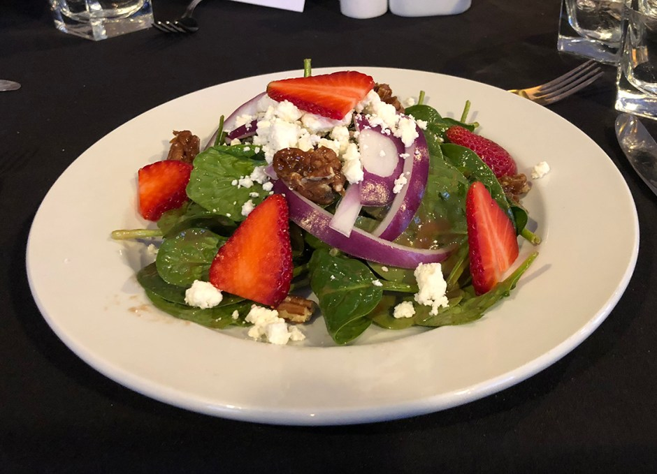 Dining Lounge spinach salad