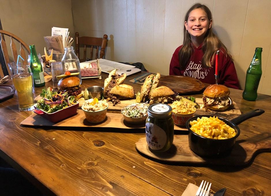 R Cottage Lauren with food
