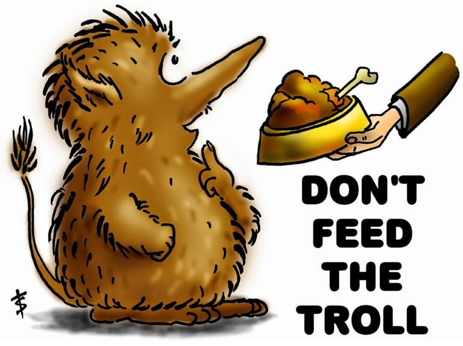 be nice don't feed the trolls