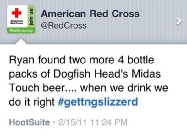 be nice red cross tweet
