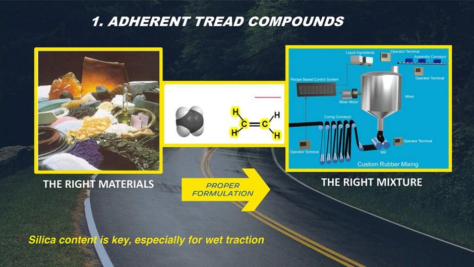 michelin truth about worn tires adherent tread compounds