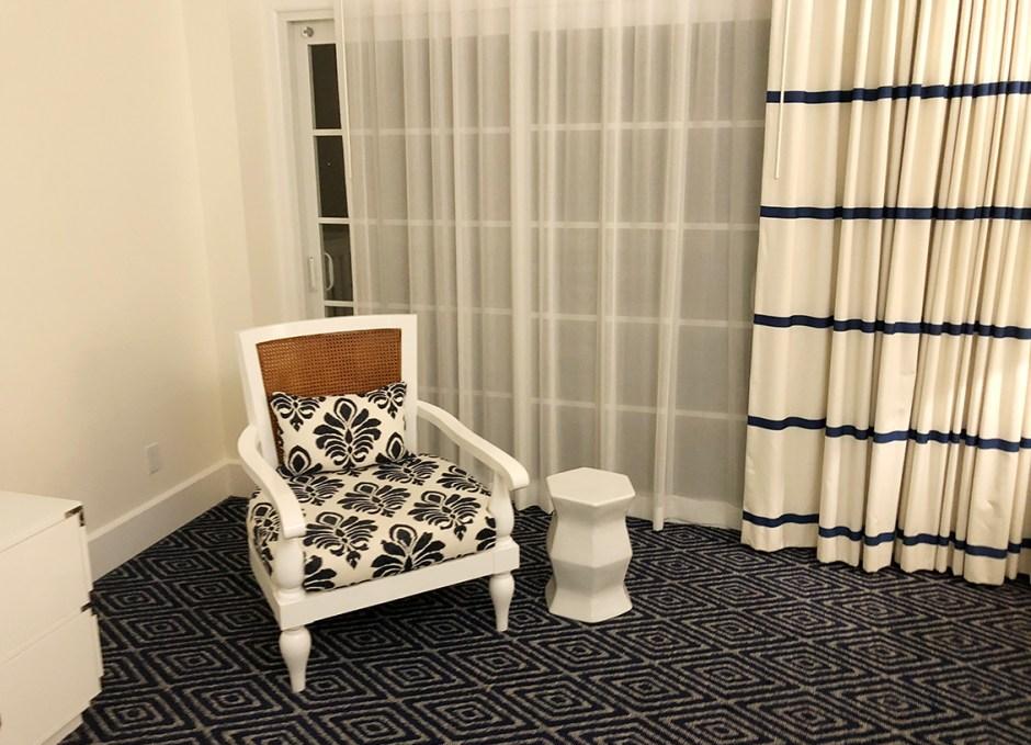 Oceans Edge chair and door to balcony