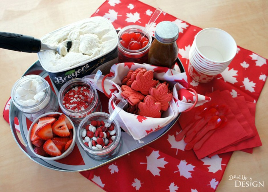 canada day desserts 8 Red White and Maple Sundae Bar