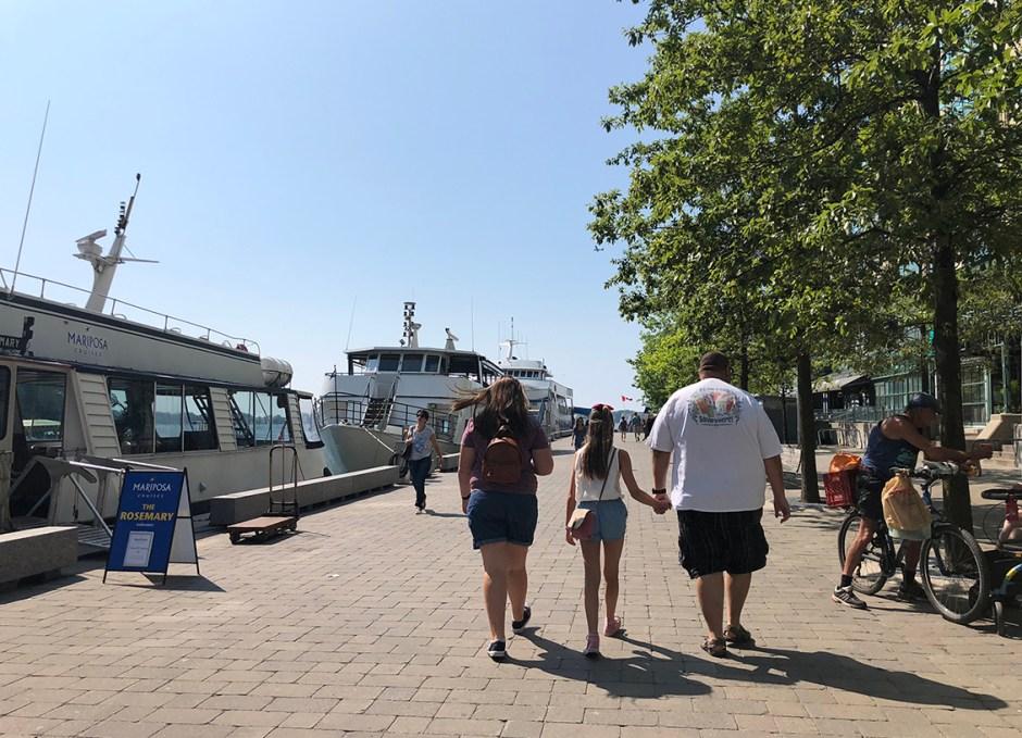 Northern Spirit walking to boat