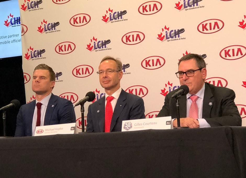 three delegates CHL Kia Canada