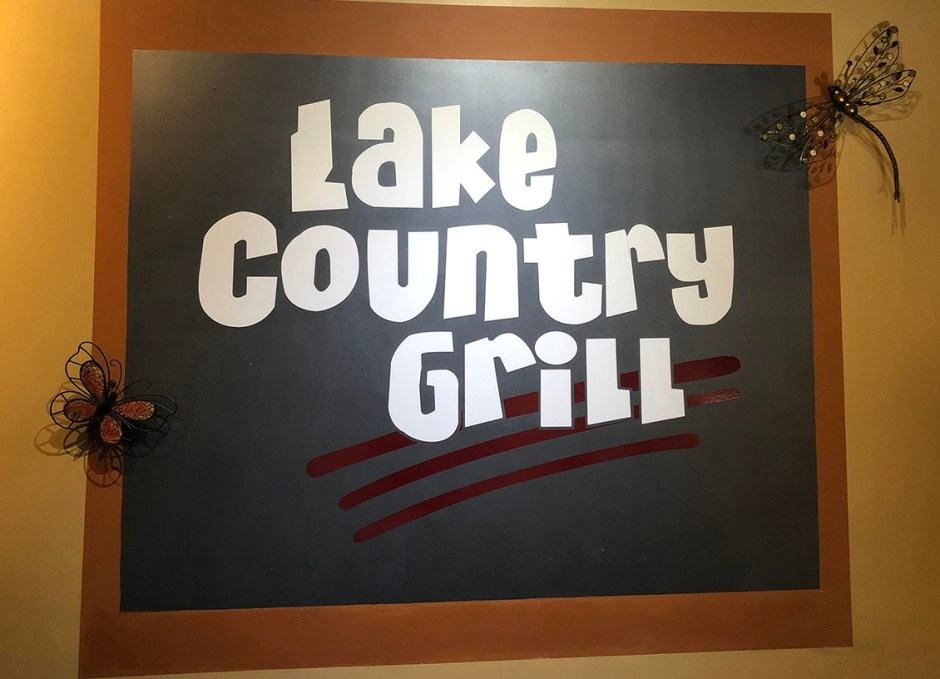 Lake Country Grill interior sign