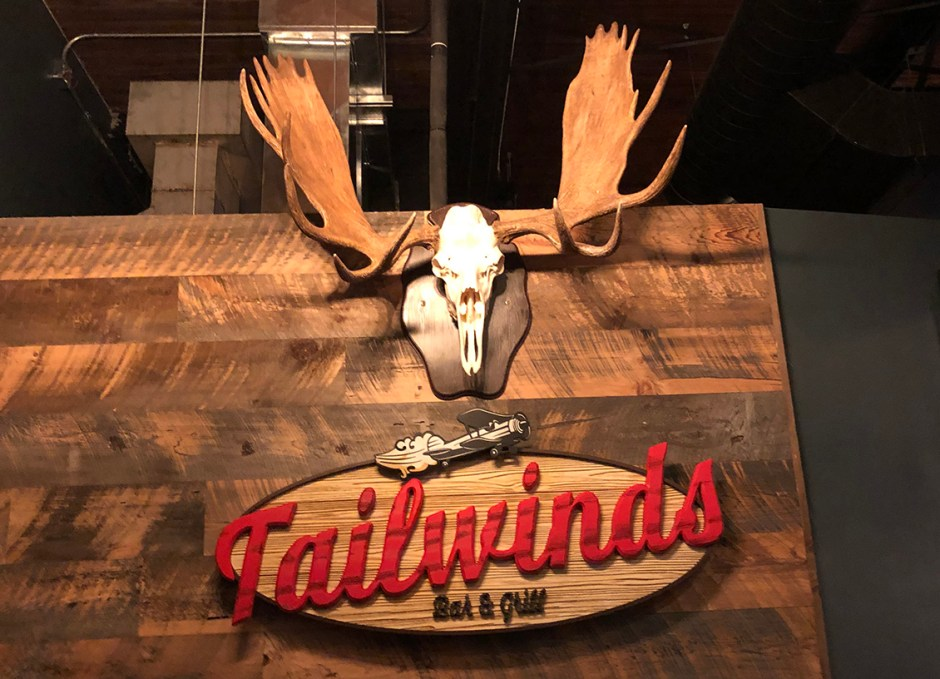 Tailwinds interior sign